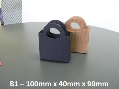 B1 - Cardboard Gift Bag - 100mm 40mm x 90mm