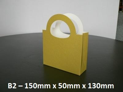 B2 - Cardboard Gift Bag - 150mm x 50mm x 130mm