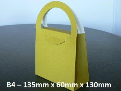 B4 - Cardboard Gift Bag - 135mm x 60mm x 130mm