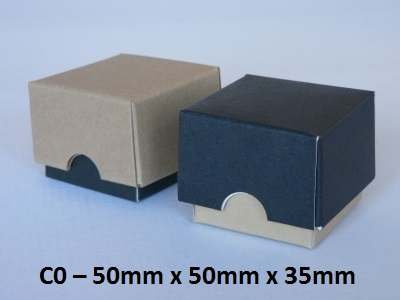 C0 - Cube Box with Lid - 50mm x 50mm x 35mm