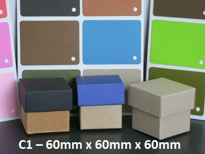 C1 - Cube Box with Lid - 60mm x 60mm x 60mm