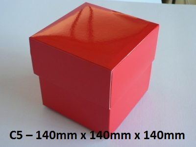 C5 - Cube Box with Lid - 140mm x 140mm x 140mm