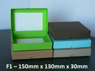 F1 Flat Box with Lid – 150mm x 130mm x 30mm