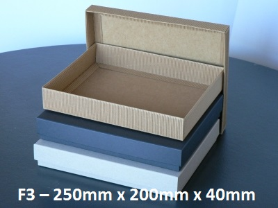 F3 - Flat Box with Lid - 250mm x 200mm x 40mm
