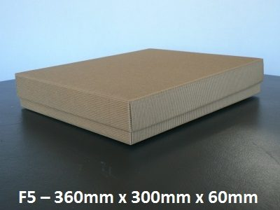 F5 - Flat Box with Lid - 360mm x 300mm x 60mm