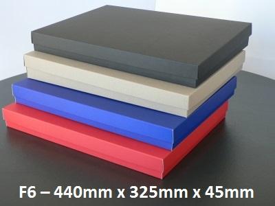 F6 - Flat Box with Lid - 440mm x 325mm x 45mm