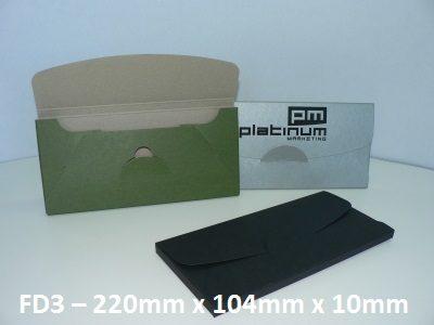FD3 - Cardboard Folder - 220mm x 104mm x 10mm