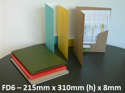 FD6 - Cardboard Book Style Folder - 215mm x 310mm x 8mm