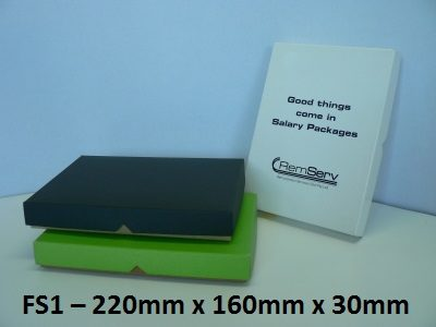 FS1 - Flat Box with Lid - 220mm x 160mm x 30mm