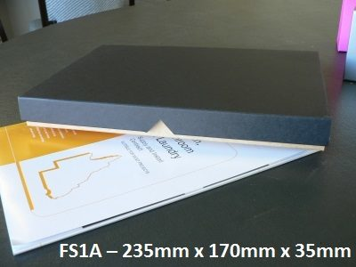 FS1A - Flat Box with Lid - 310mm x 220mm x 30mm