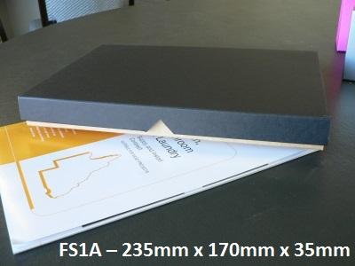 FS1A - Flat Box with Lid - 310mm x 220mm x 30mm