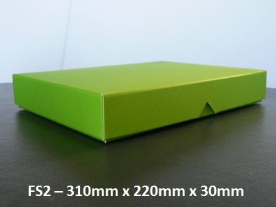 FS2 - Flat Box with Lid - 310mm x 220mm x 30mm
