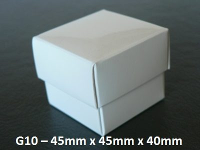 G10 - Small Box with Lid - 45mm x 45mm x 40mm