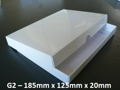 G2 - Box with Lid - 185mm x 125mm x 20mm