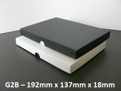 G2B - Box with Lid - 192mm x 137mm x 18mm