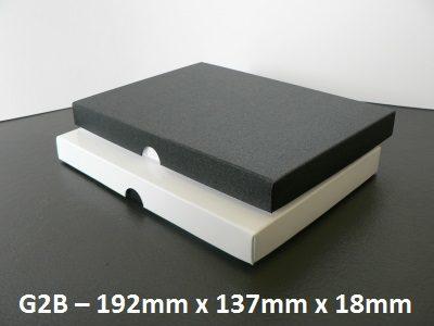 G2B - Box with Lid - 192mm x 137mm x 18mm
