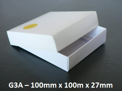 G3A - Box with Lid - 100mm x 100mm x 27mm