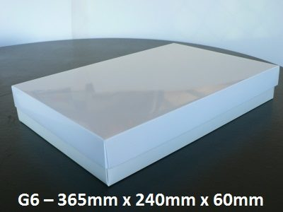 G6 - Box with Lid - 365mm x 240mm x 60mm