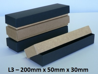 L3 - Long Box with Lid - 200mm x 50mm x 30mm