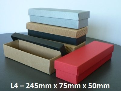 L4 - Long Box with Lid - 245mm x 75mm x 50mm