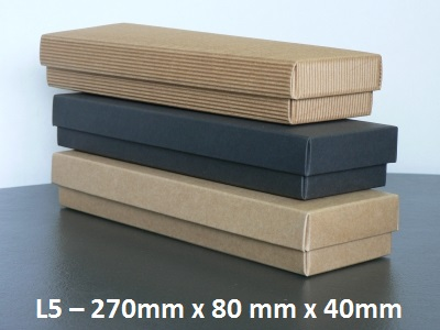 L5 - Long Box with Lid - 270mm x 80mm x 40mm