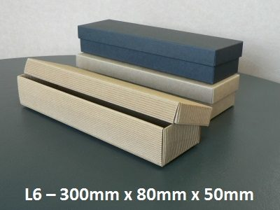 L6 - Long Box with Lid - 300mm x 80mm x 50mm