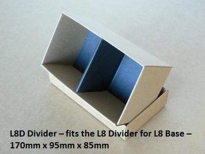 L8D Divider - fits L8 Long Box base - 170mm x 95mm x 85mm