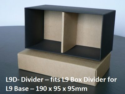 L9D - Divider - fits L9 Long Box base - 190mm x 95mm x 95mm