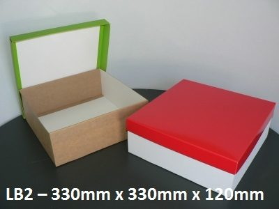 LB2 Large Box with Lid - 330mm x 330mm x 120mm