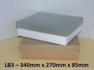 LB3 - Large Box with Lid - 340mm x 270mm x 85mm