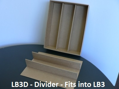 LB3D Divider - fits LB3 Box base