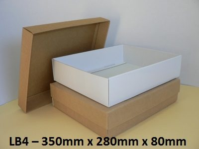 LB4 - Large Box with Lid - 350mm x 280mm x 80mm