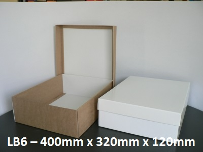 LB6 - Large Box with Lid - 400mm x 320mm x 120mm