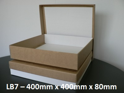 LB7 - Large Box with Lid - 400mm x 400mm x 80mm