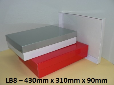 LB8 - Large Box with Lid - 430mm x 310mm x 90mm