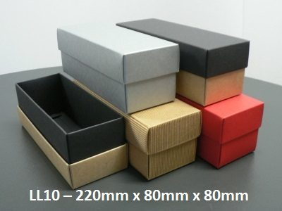 LL10 - Long Box with Lid - 220mm x 80mm x 80mm