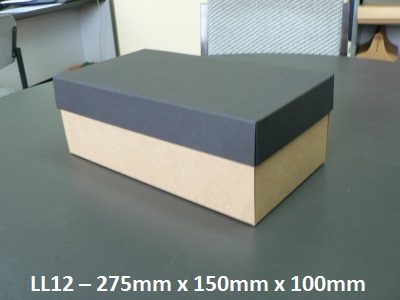 LL12 - Long Box with Lid - 275mm x 150mm x 100mm