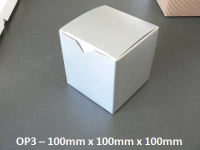 OP3 - One Piece Box - 100mm x 100mm x 100mm