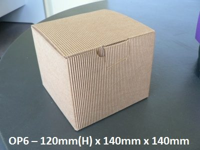 OP6 - One Piece Box - 120mm x 140mm x 140mm