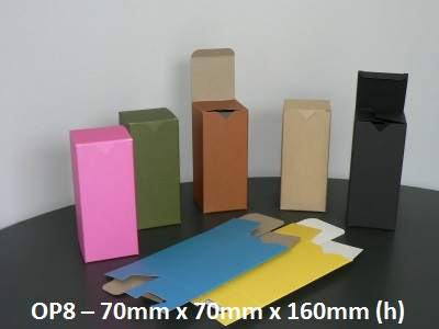 OP8 - One Piece Box - 70mm x 70mm x 160mm