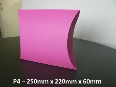 P4 - Pillow Box - 250mm x 220mm x 60mm