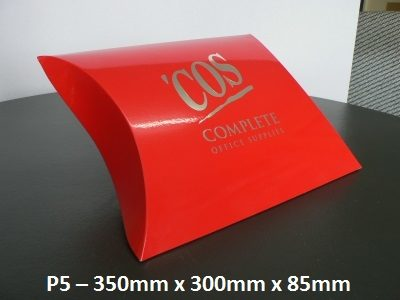 P5 - Pillow Box - 350mm x 300mm x 85mm