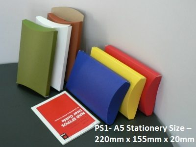 PS1- A5 Stationery Size - Pillow Box - 220mm x 155mm x 20mm