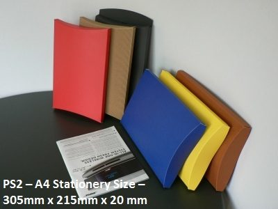 PS2- A4 Stationery Size - Pillow Box - 305mm x 215mm x 20mm