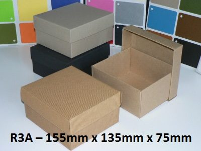 R3A - Rectangle Box with Lid - 155mm x 135mm x 75mm