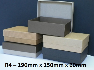 R4 - Rectangle Box with Lid - 190mm x 150mm x 60mm