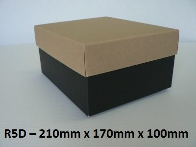 R5D - Rectangle Box with Lid - 210mm x 170mm x 100mm