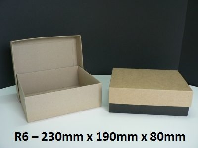 R6 - Rectangle Box with Lid - 230mm x 190mm x 80mm