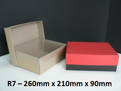 R7 - Rectangle Box with Lid - 260mm x 210mm x 90mm