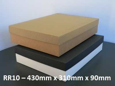RR10 - Rectangle Box with Lid - 430mm x 310mm x 90mm